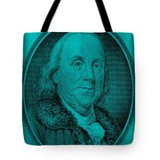 Ben Franklin In Turquois Tote Bag