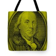 Ben Franklin In Yellow Tote Bag