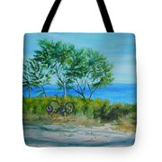 Bikes Waiting				 Tote Bag