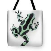 Black And Green Poison Dart Frog Tote Bag