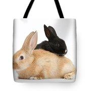 Black And Sandy Rabbits Tote Bag