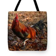 Black Breasted Red Phoenix Rooster Tote Bag