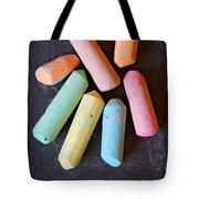 Blackboard Chalk Tote Bag by Carlos Caetano