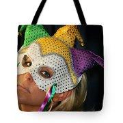 Blond Woman With Mask Tote Bag by Henrik Lehnerer
