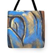 Blue Back Tote Bag