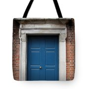 Blue Irish Door Tote Bag