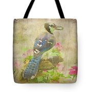 Blue Jay With Texture II Tote Bag