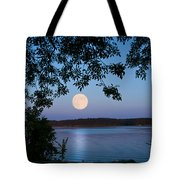 Blue Moon Of August  Tote Bag
