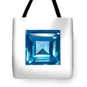 Blue Sapphire Isolated Tote Bag