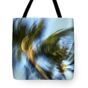 Blurred Palm Trees Tote Bag