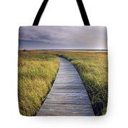 Boardwalk Along The Salt Marsh Tote Bag