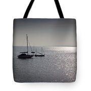 Boats Moored Off Of Leigh Essex Tote Bag