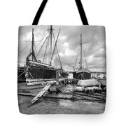 Boats On The Hard Pin Mill Tote Bag