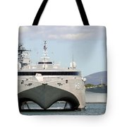 Bow On View Of The Us Navy Experimental Tote Bag
