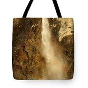 Bridal Veil Falls At Yosemite Tote Bag