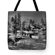 Bridge Over A Creek  Tote Bag