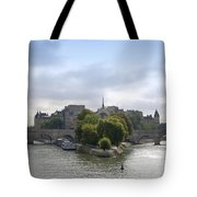 Bridges On River Seine. Paris. France Tote Bag