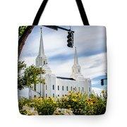 Brigham City Temple Street Lights Tote Bag