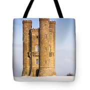 Broadway Tower In Winter Snow Tote Bag