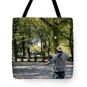 Bubble Boy Of Central Park Tote Bag
