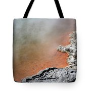 Bubbles Rising In Champagne Pool Hot Tote Bag