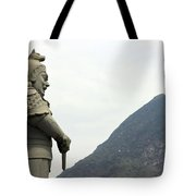 Buddhist Temple Statue Tote Bag