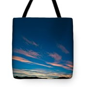 Burning Evening Sky Towards End Of Sunset Tote Bag