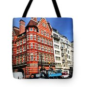 Busy Street Corner In London Tote Bag by Elena Elisseeva
