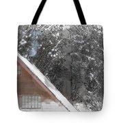 Cabin In The Winter Tote Bag
