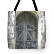 Caerphilly Castle Gate Tote Bag