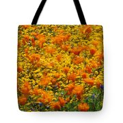 California Poppies And Goldfields Dance Tote Bag
