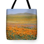 California Poppies Fill A Landscape Tote Bag