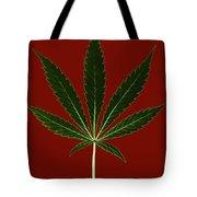 Cannabis Sativa, Marijuana Leaf Tote Bag
