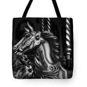 Carousel Horses Mono Tote Bag