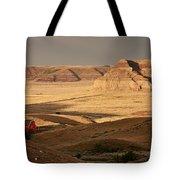 Castle Butte In Big Muddy Valley Of Saskatchewan Tote Bag