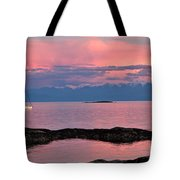 Cattle Point And The Strait Of Juan De Fuca Tote Bag