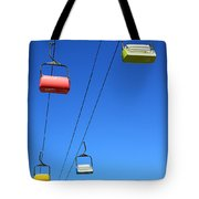 Chairlift Cars Tote Bag