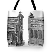 Chapel Organ, 19th Century Tote Bag