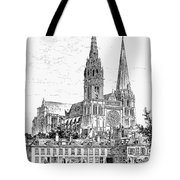 Chartres Cathedral Tote Bag