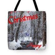 Christmas Along The Creek Tote Bag