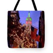 Christmas In New York Tote Bag