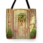 Christmas Wreath Tote Bag by Tom Gowanlock