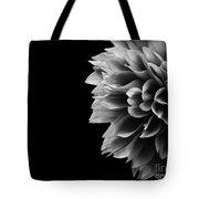 Chrysanthemum In Black And White Tote Bag
