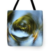 Circular Palm Blur Tote Bag