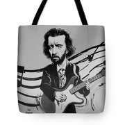 Clapton In Black And White Tote Bag