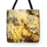 Close-up Of Yellow Salt Crystals Tote Bag