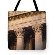 Closeup Of The U.s. Supreme Court Tote Bag