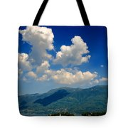 Clouds And Mountain Tote Bag