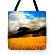 Clouds In The Mountains Tote Bag