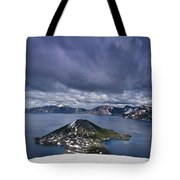 Clouds Over Crater Lake Tote Bag